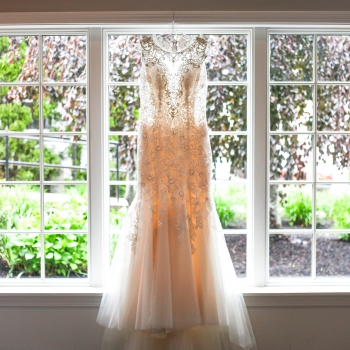 Wedding Dress in foyer